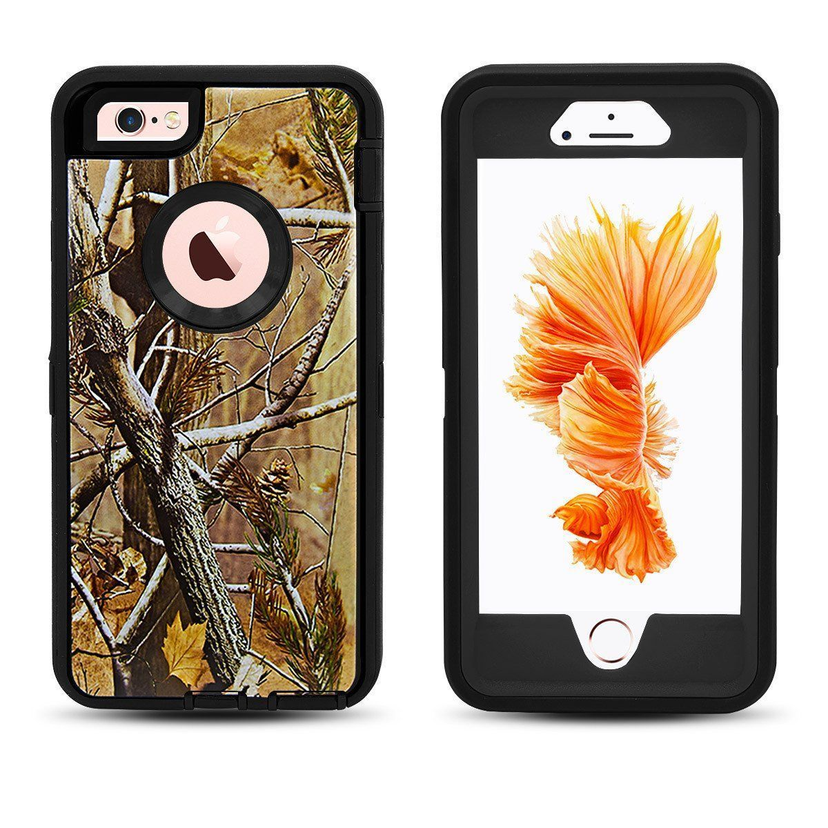 DualPro Protector Case for iPhone 6 Plus - Camouflage Black