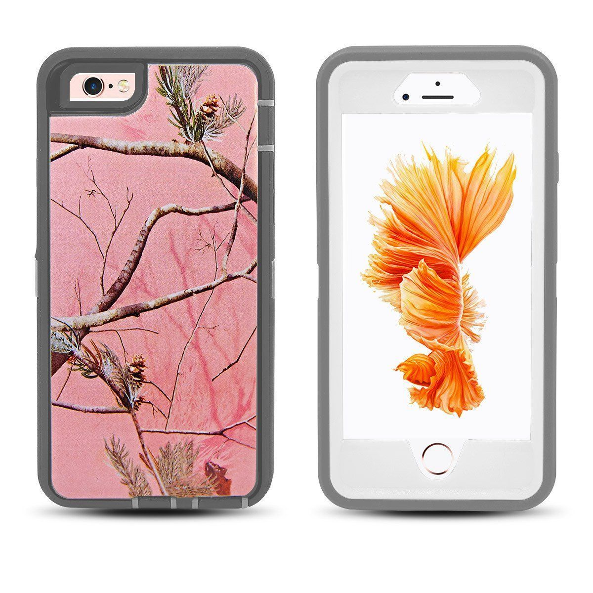 DualPro Protector Case for iPhone 6 Plus - Camouflage Pink