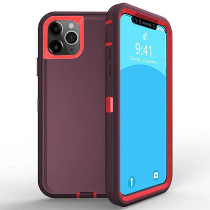 DualPro Protector Case for iPhone 11 - Burgundy & Pink