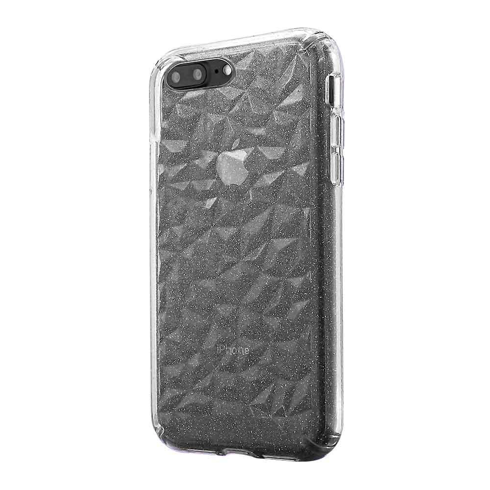 3D Crystal Case for iPhone 8/7/6 Plus - Glitter Clear