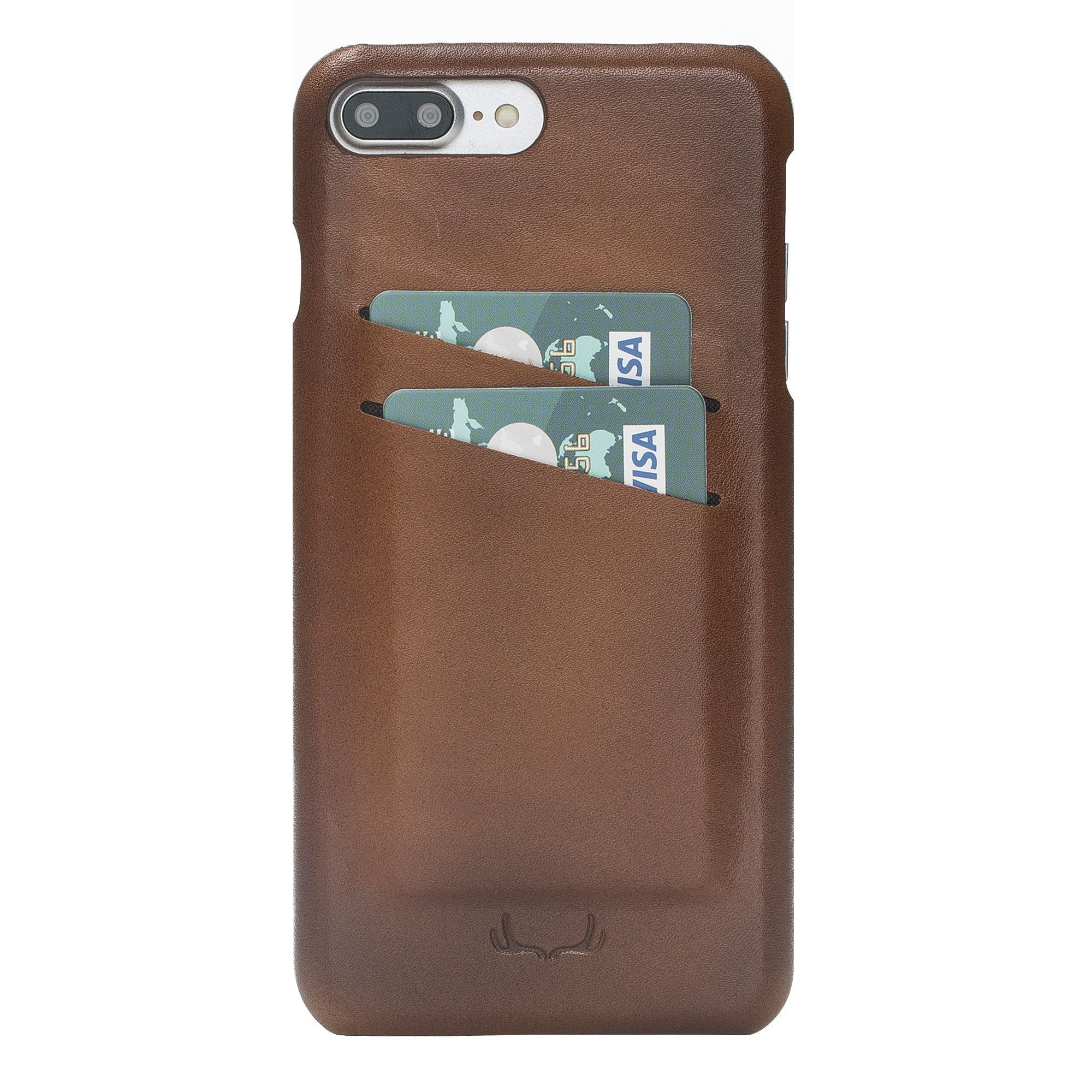 BNT Ultimate Jacket Credit Card Leather Cases - Rustic - iPhone 7 Plus / 8 Plus - Brown