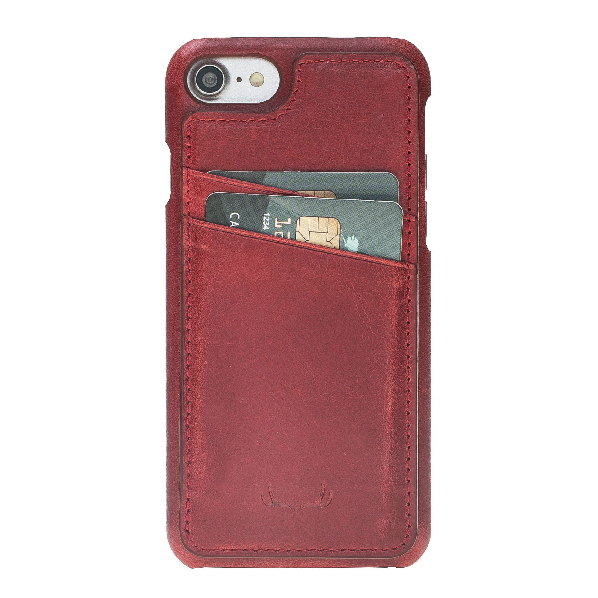 BNT Ultimate Stand Credit Card Leather Cases - Crazy - iPhone 7/8 - Red