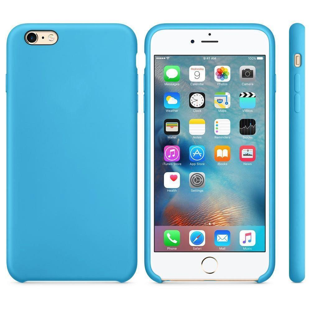 Premium Silicone Case For iPhone 6, 6S - Dark Blue