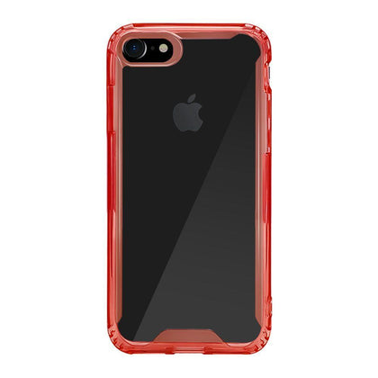 Acrylic Transparent Case for iPhone X - Red