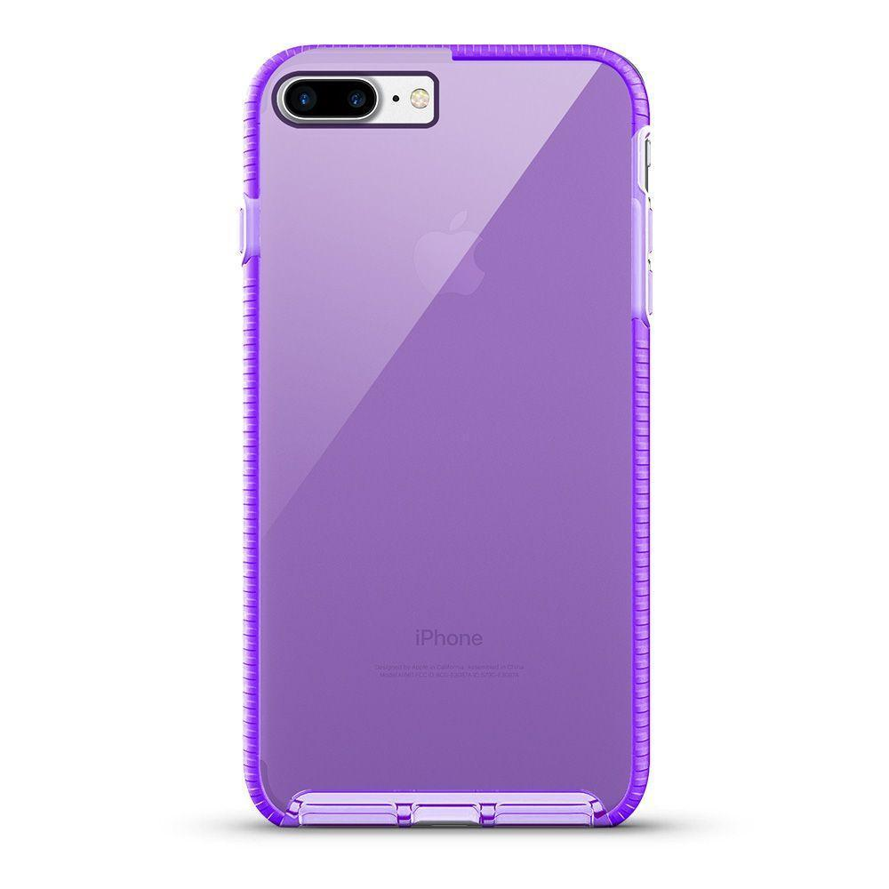 Elastic Clear Case for iPhone 6P - Purple