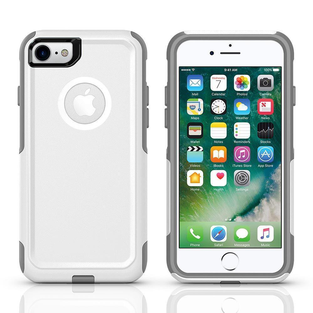 Protector Case for iPhone 7P /8 Plus - White & Grey