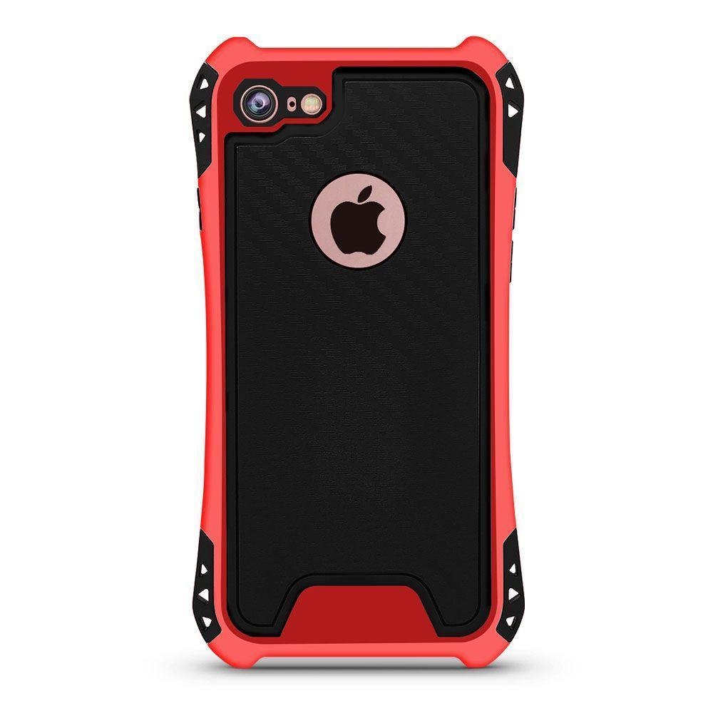Carbon Style Case for iPhone 7 /8 - Red