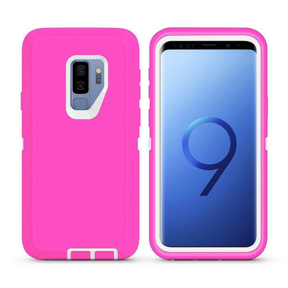 DualPro Protector Case For Samsung Galaxy S9 Plus - Pink & White