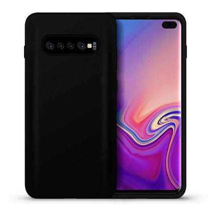 Hybrid Combo Layer Protective Case for Galaxy S10 Plus - Black