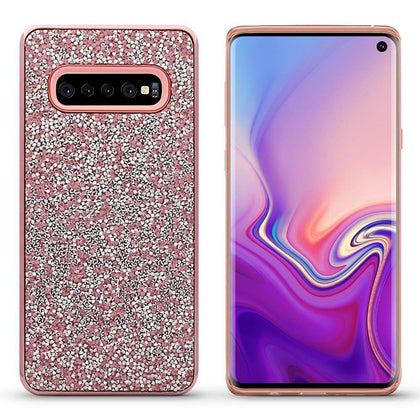 Color Diamond Case for Samsung Galaxy S10 - Rose Gold