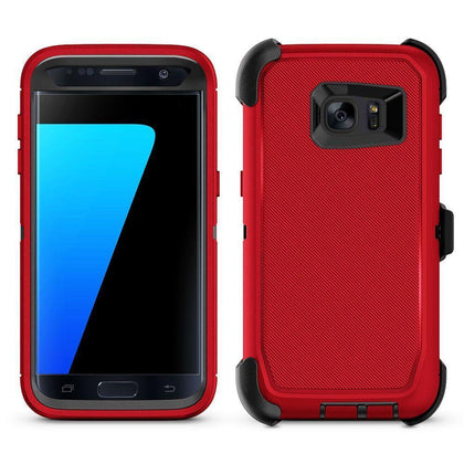 DualPro Protector Case for S7E - Red & Black