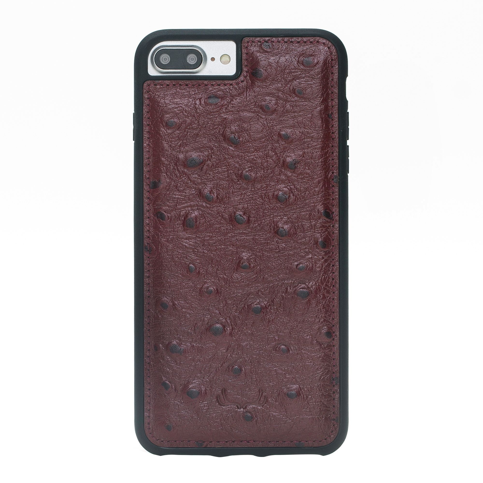 BNT Flex Cover Leather Cases - Ostrich - iPhone 7 Plus/ 8 Plus - Red