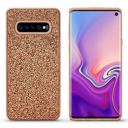 Color Diamond Case for Samsung Galaxy S10 - Champagne Gold