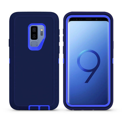 DualPro Protector Case For Samsung Galaxy S9 Plus - Dark Blue & Blue