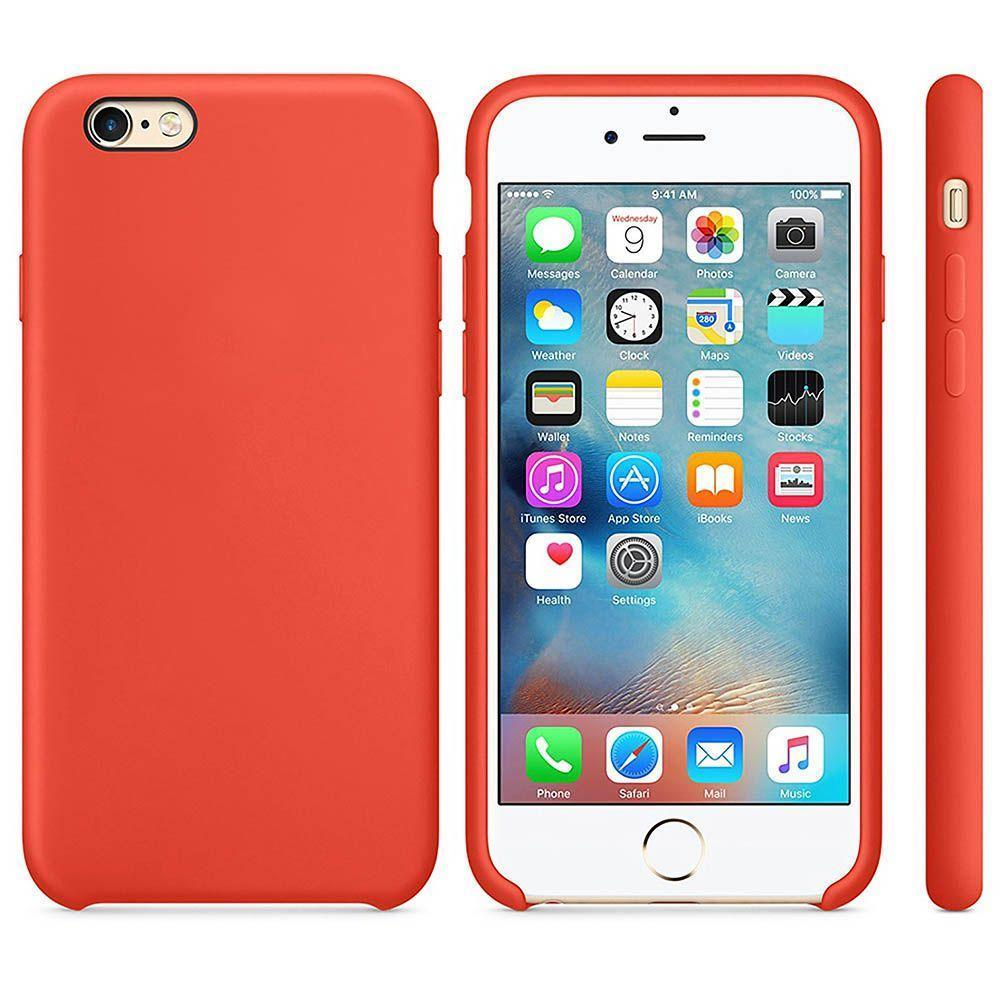 Premium Silicone Case For iPhone 6, 6S - Red