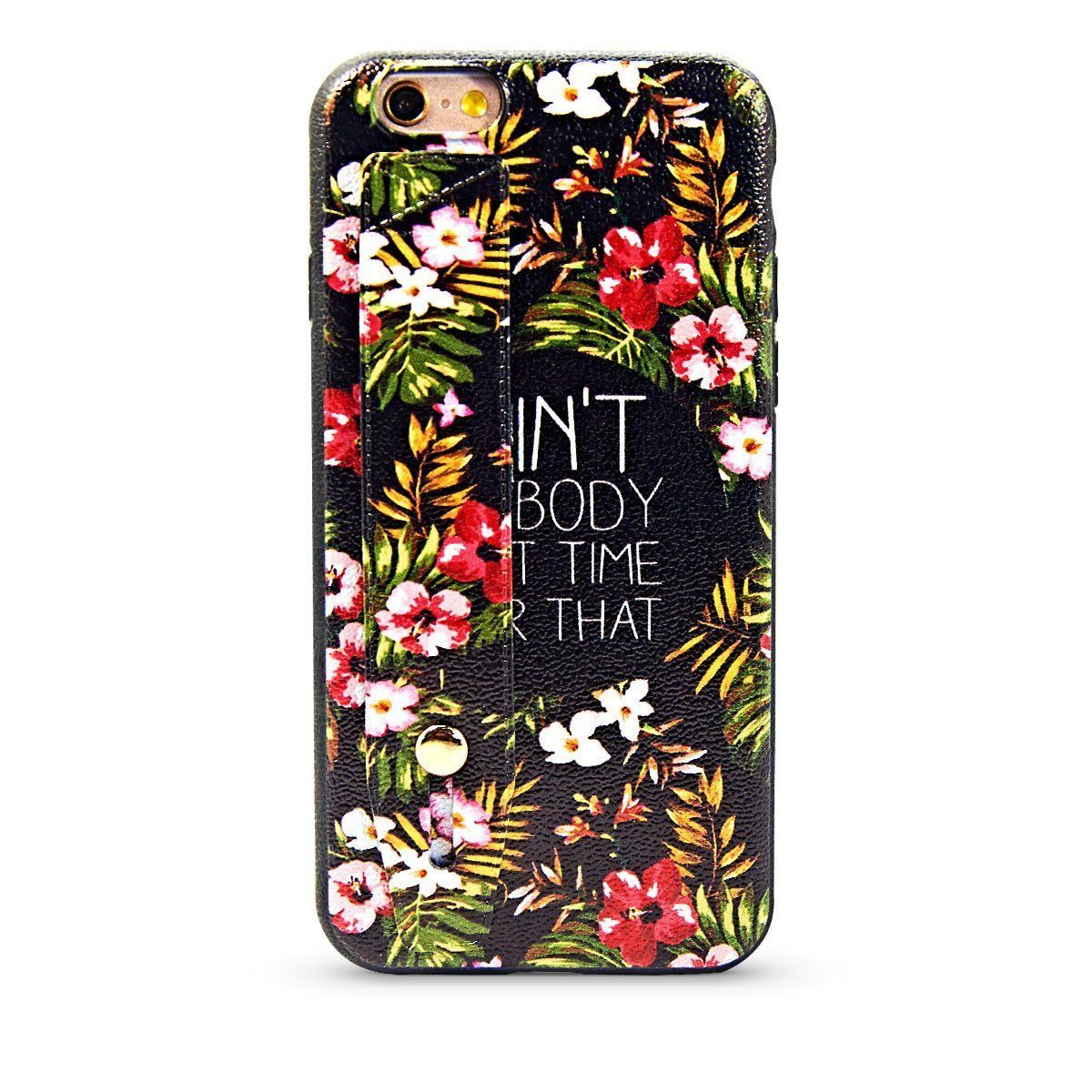 Flower Design Case For iPhone 6 Plus - Flower Text
