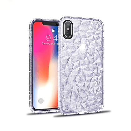 3D Crystal Case for iPhone X/XS - Glitter Purple