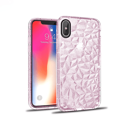 3D Crystal Case for iPhone X/XS - Glitter Pink