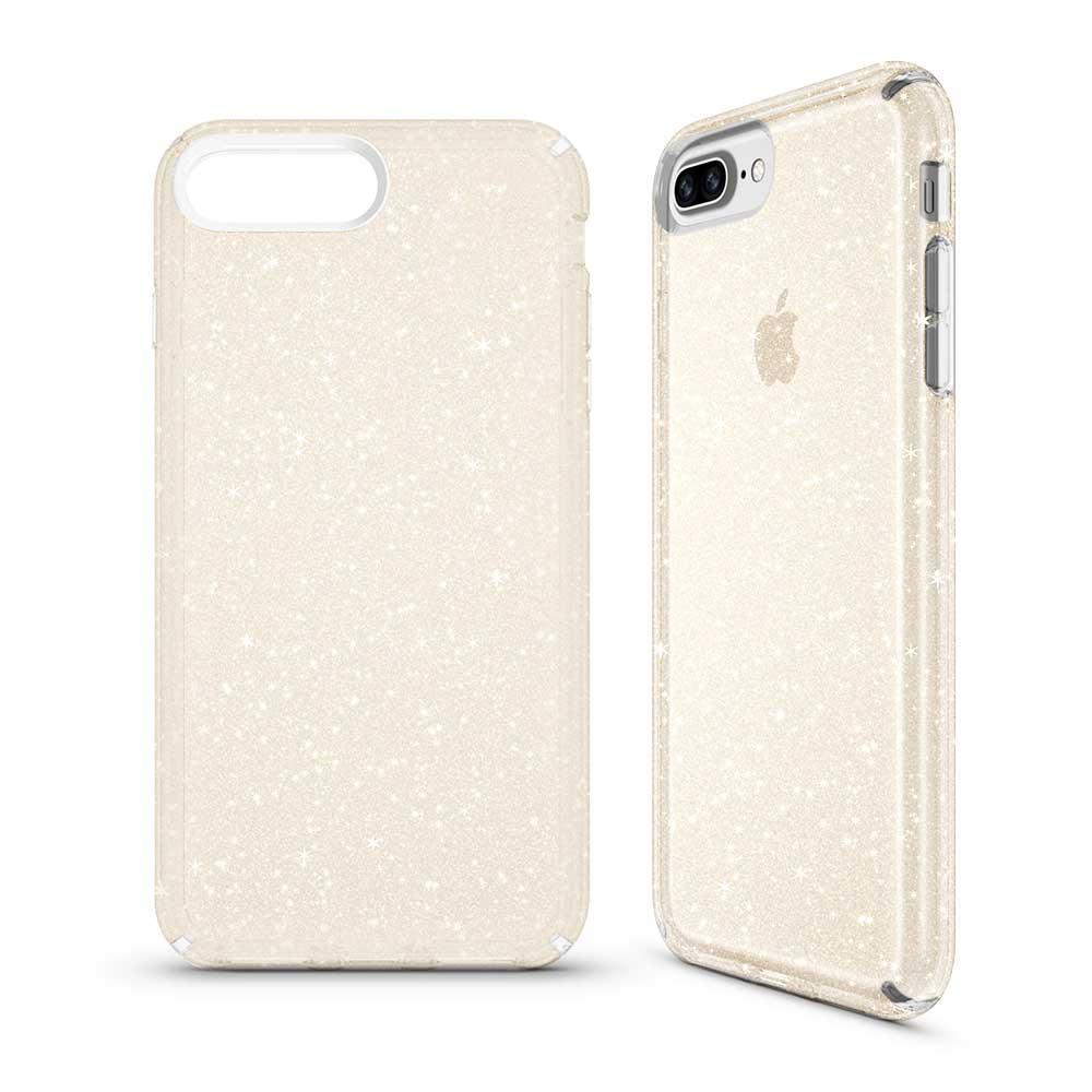 Transparent Sparkle Case (HARD SHELL) for iPhone 7P/8P - Clear