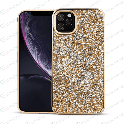 Color Diamond Hard Shell Case for iPhone 11 Pro Max - Gold