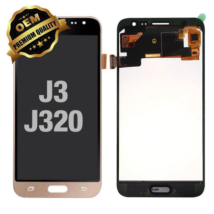 LCD Assembly for Samsung Galaxy J3 (J320 / 2016) - Gold | MobilEnzo