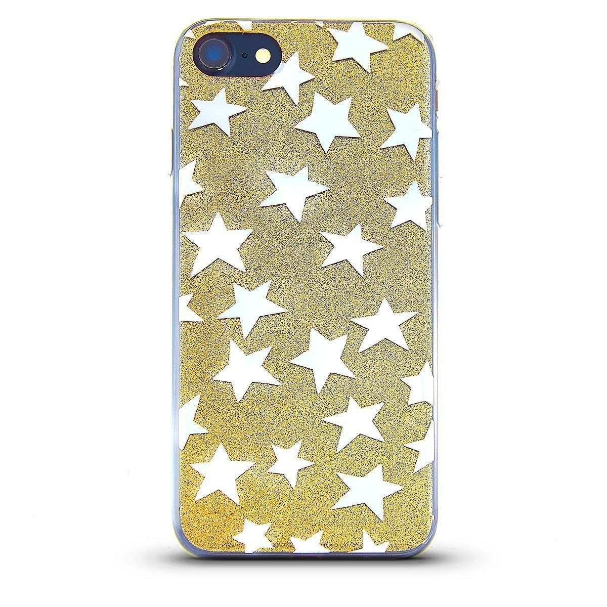 Sparkle Case for iPhone 7 /8 - Gold Star