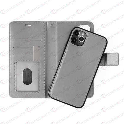 Classic Magnet Wallet Case for iPhone 12 Pro Max (6.7) - Gray