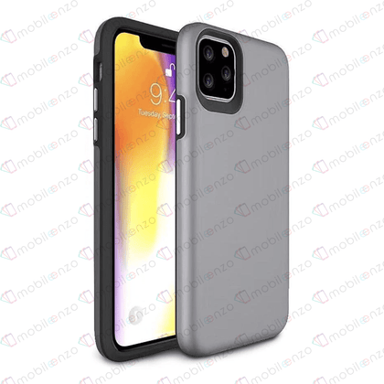 2 in 1 Premium Silicone Case for iPhone 12 Pro Max (6.7) - Gray