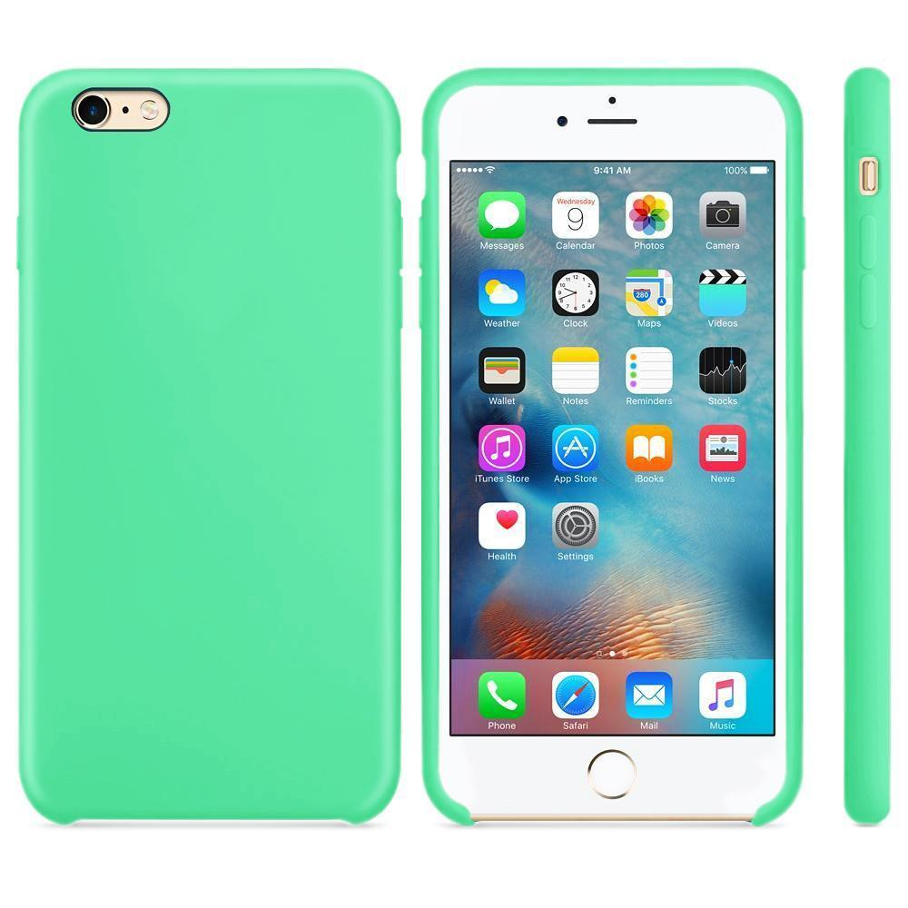 Premium Silicone Case For iPhone 6, 6S - Green