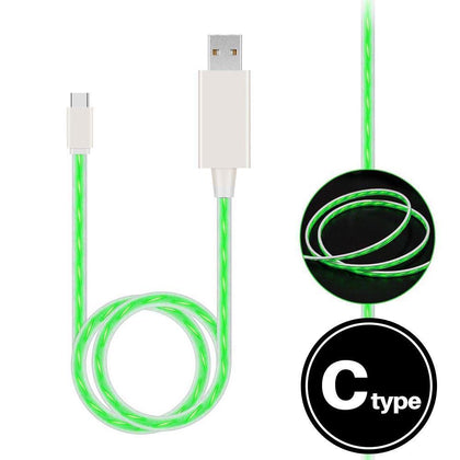 Light Up Cable for Type-C - Green