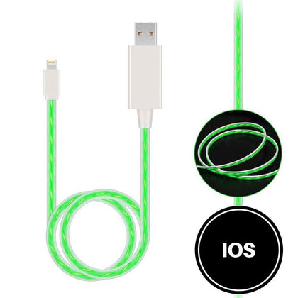 Light Up Cable for IOS - Green