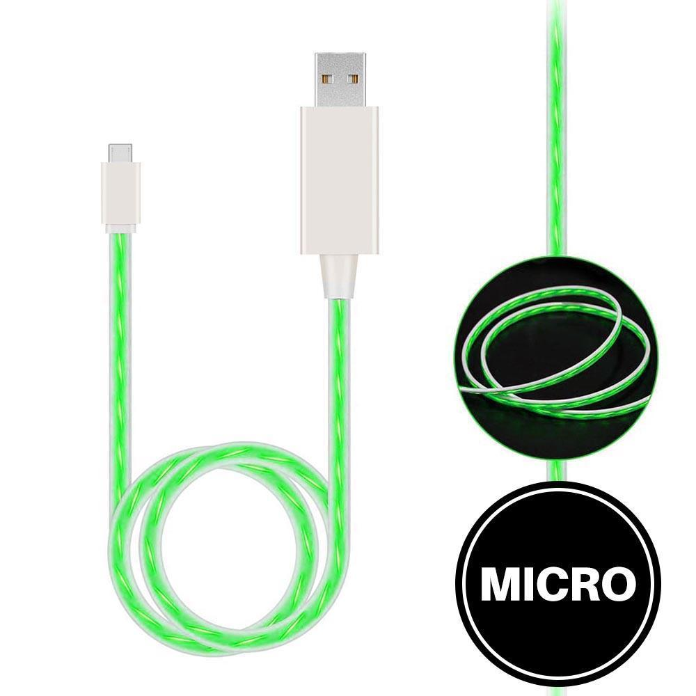 Light Up Cable for Micro - Green