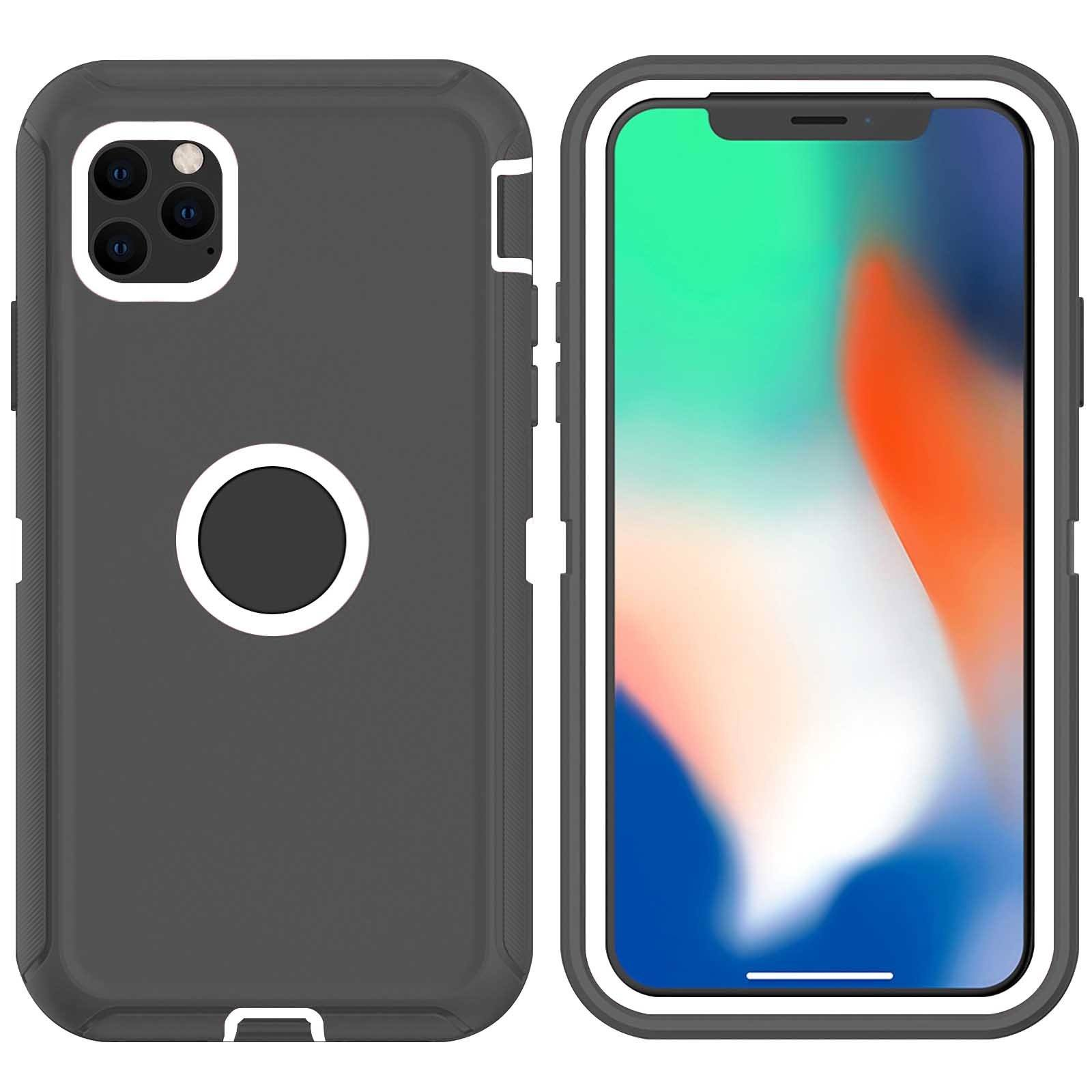 DualPro Protector Case for iPhone 11 Pro - Grey & White