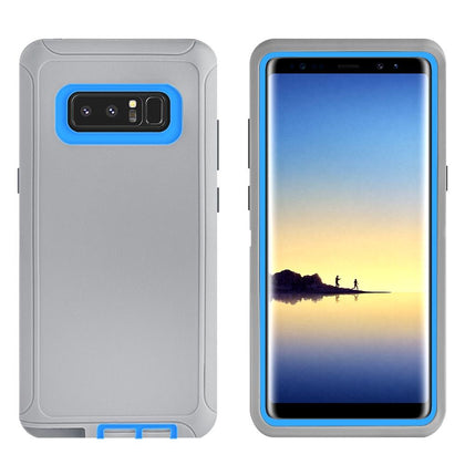DualPro Protector Case for Note 8 - Grey & Dark Blue