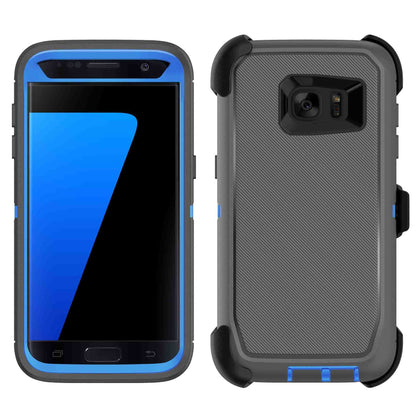 DualPro Protector Case for S7 - Grey & Dark Blue