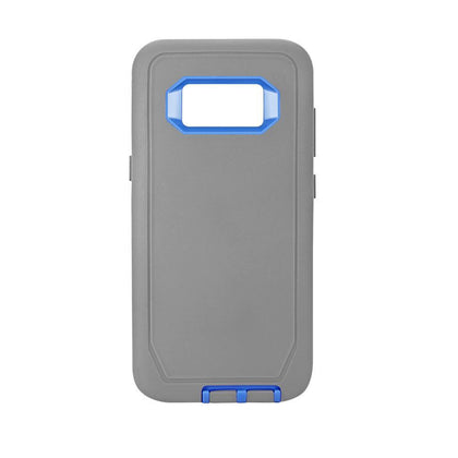 DualPro Protector Case for Samsung Galaxy S8 Plus - Grey & Dark Blue