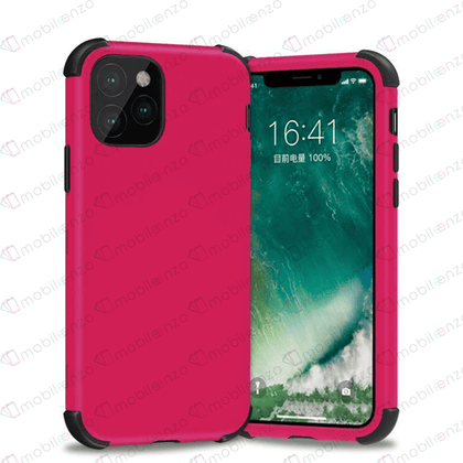 Bumper Hybrid Combo Case for iPhone 12 / 12 Pro (6.1) - Hotpink & Black