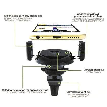 iessentials Wireless Charger Vent Mount | MobilEnzo
