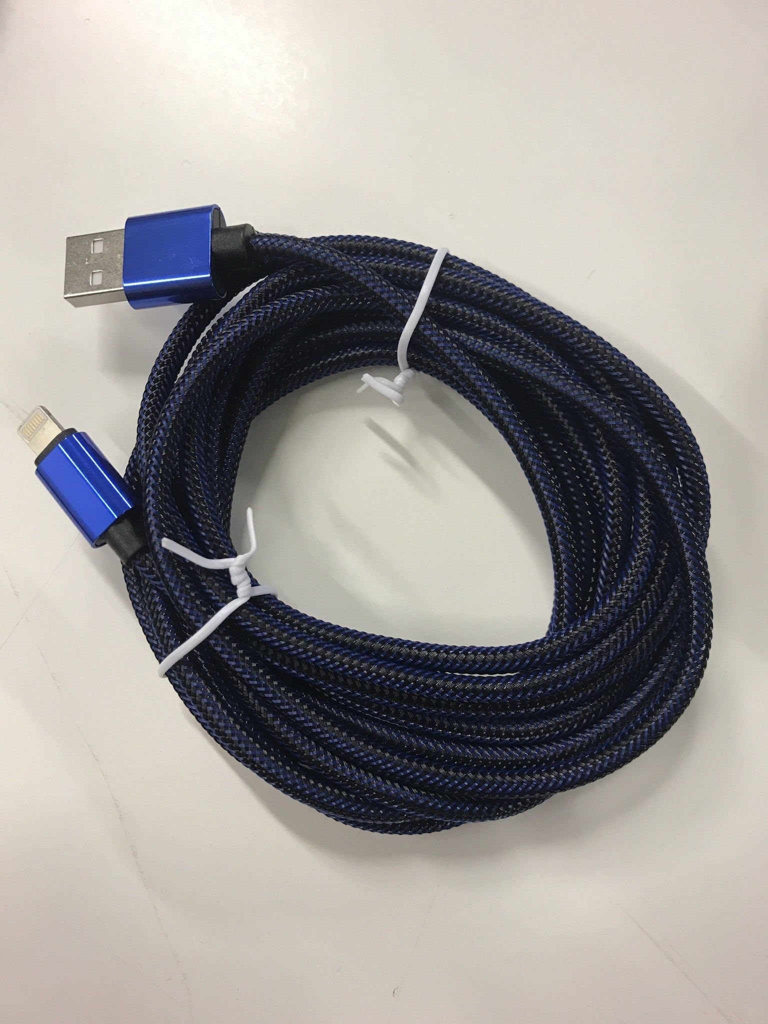 Braided USB Lightning Cable 3 Feet - Blue