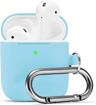 Premium Silicone Case for Apple Airpods - Light Blue