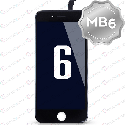 LCD Digitizer for iPhone 6 - Black (MB6 Quality) - With Metal Backplate