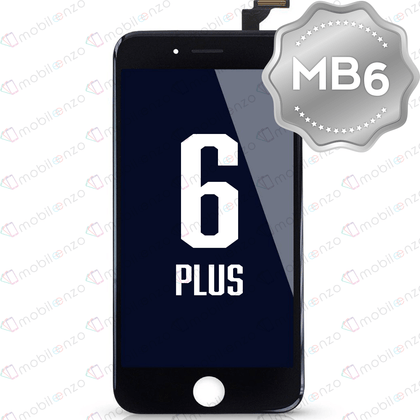 LCD Digitizer for iPhone 6P - Black (MB6 Quality) - With Metal Backplate