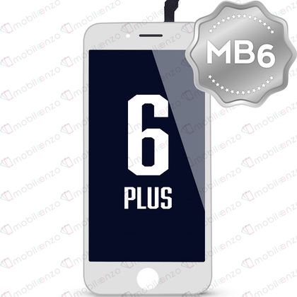 LCD Digitizer for iPhone 6P - White (MB6 Quality) - With Metal Backplate