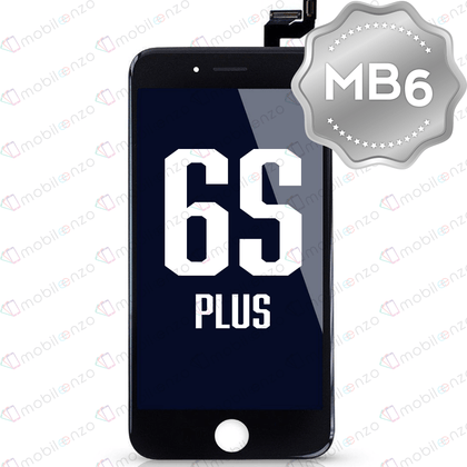 LCD Digitizer for iPhone 6SP - Black (MB6 Quality) - With Metal Backplate