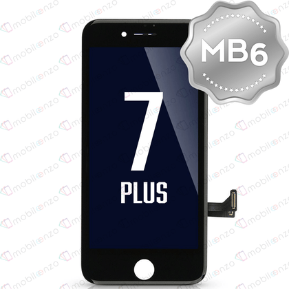 LCD Digitizer for iPhone 7P - Black (MB6 Quality) - With Metal Backplate
