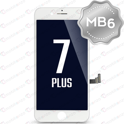LCD Digitizer for iPhone 7P - White (MB6 Quality) - With Metal Backplate