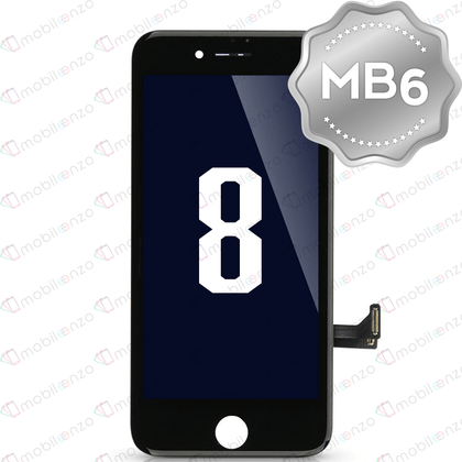 LCD Digitizer for iPhone 8 / SE (2020) - Black (MB6 Quality) - With Metal Backplate