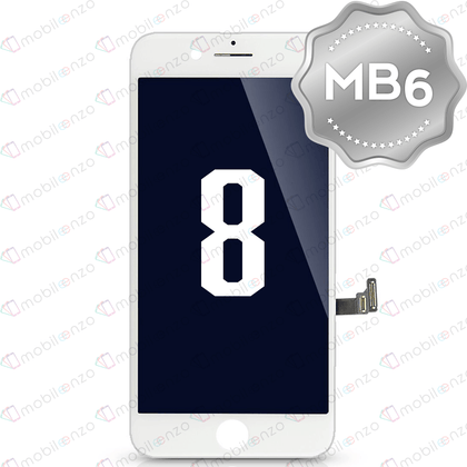 LCD Digitizer for iPhone 8 - White (MB6 Quality) - With Metal Backplate
