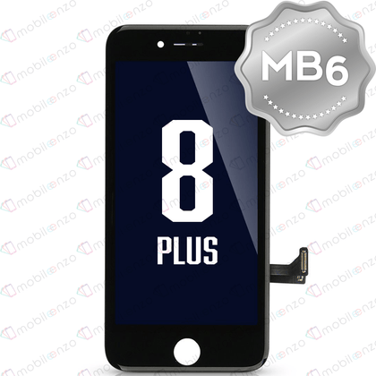 LCD Digitizer for iPhone 8P - Black (MB6 Quality) - With Metal Backplate