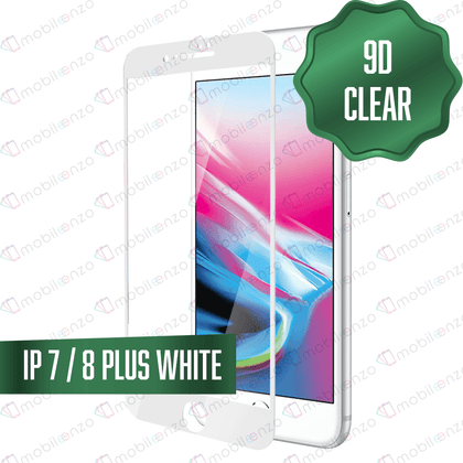 9D Tempered Glass for iPhone 7/8 Plus - White